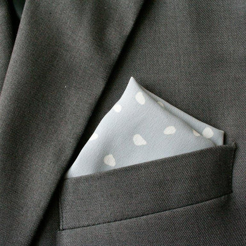 Grey Crepe Pocket Square