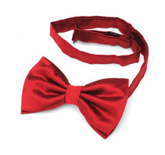 Rouge Red Silk Wedding Bow Tie