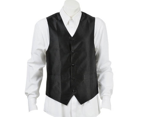 Bordeaux Black Silk Vest