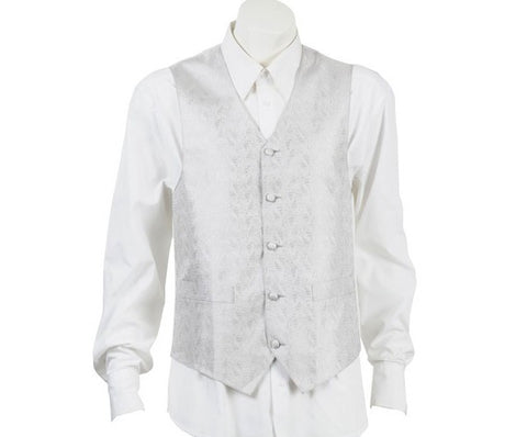 Adoration Silver Patterned Vest