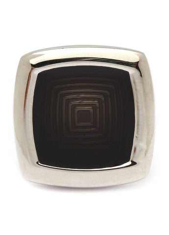 Square Black Design Cufflinks