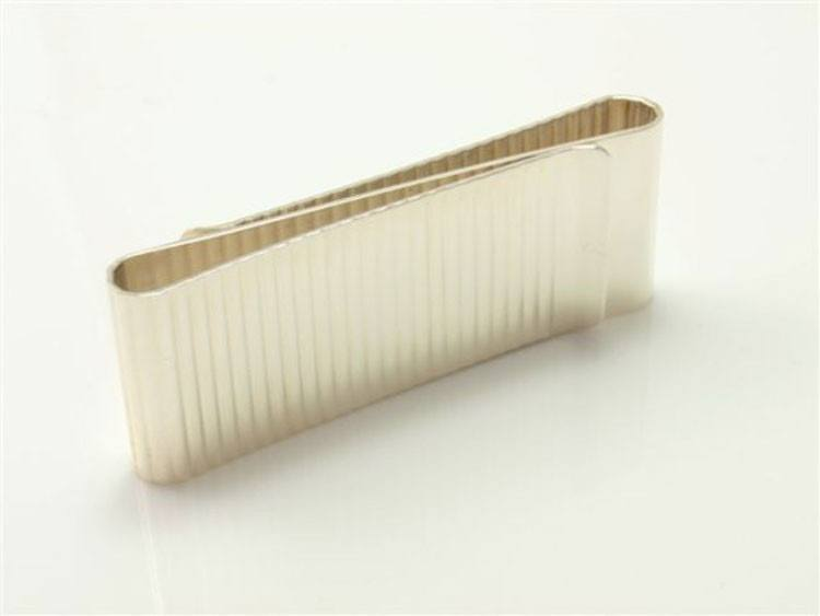 Sterling Silver Ribbed Money Clip