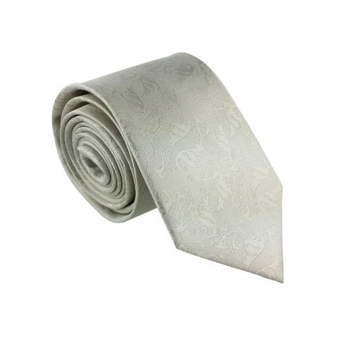 Adoration Ice Grey Patterned Tie