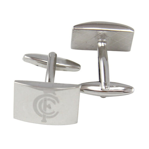 AFL Carlton Blues Brushed Steel Cufflinks