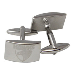 AFL Hawthorn Hawks Brushed Steel Cufflinks