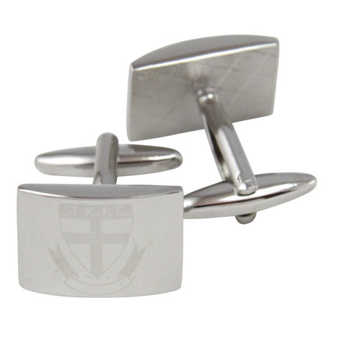 AFL St Kilda Saints Brushed Steel Cufflinks