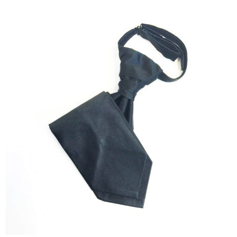 Bordeaux Black Silk Wedding Cravat