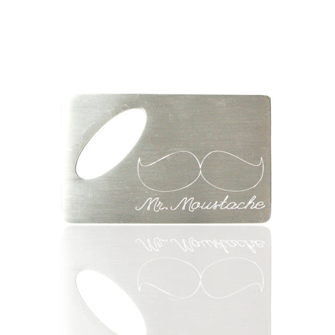 Personalised Brushed Logo/Image Bottle Opener with Oval Cut Out