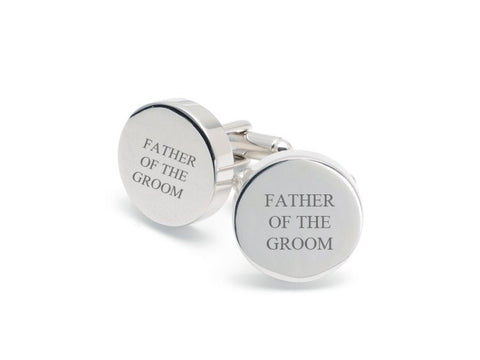 Round Father of the Groom Cufflinks