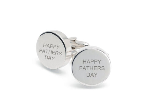 Round 'Happy Fathers Day' Cufflinks