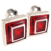 Image of 3-D Red Cufflinks