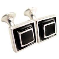 Image of 3-d Black Cufflinks