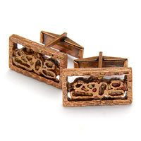 Vintage Rectangle Motif Cufflinks