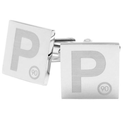 Lasered P Plates Cufflinks