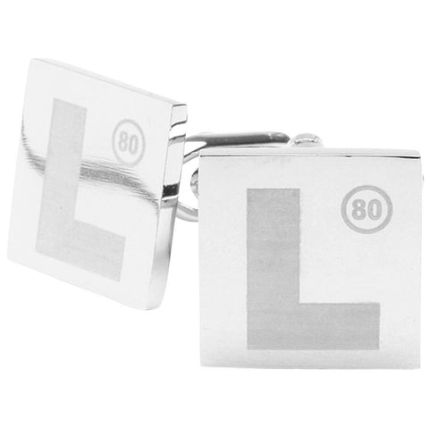 Lasered L Plates Cufflinks