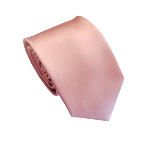 Champagne Pink Silk Wedding Tie