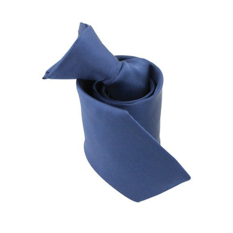 Navy Polyester Clip On Tie