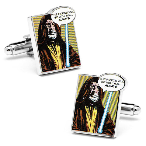 "Star Wars ""The Force Will Be With You Always"" Comic Cufflinks"