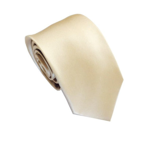 French Champagne Silk Wedding Necktie