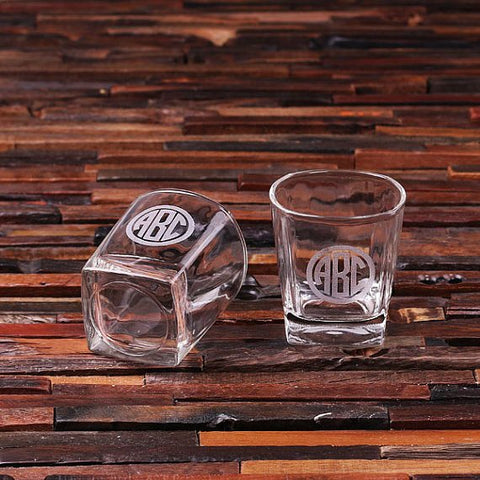 Personalised Set of 2 Whiskey Shot Glasses