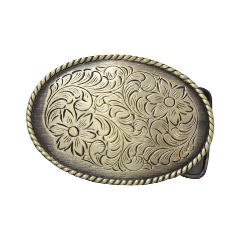 Floral Oval Belt Buckle