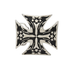Iron Cross with Stars Belt Buckle