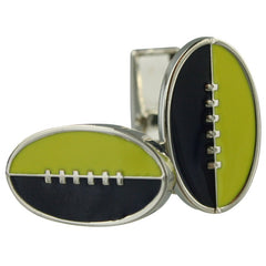 Footy Cuffs Dark Blue and Yellow Cufflinks