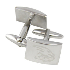 AFL Adelaide Crows Brushed Steel Cufflinks