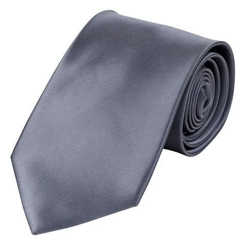 Grey Polyester Tie