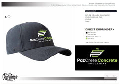 Custom Caps for Pazcrete Concrete Solutions