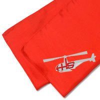 Red Silk Scarf with Logo