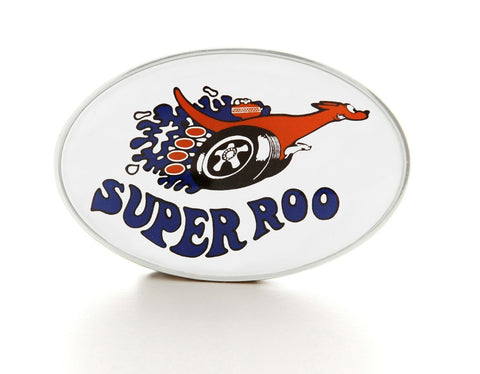 Silver Personalised Printed Oval Belt Buckle
