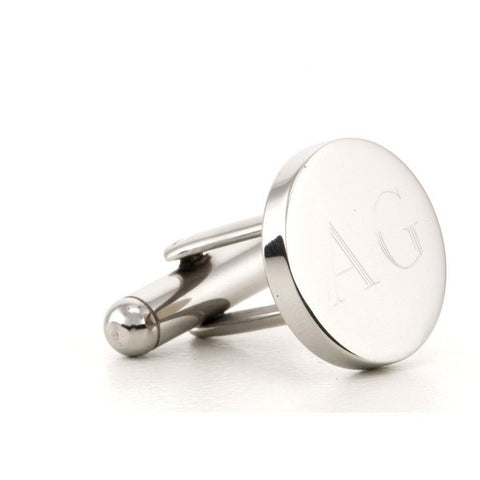 Personalised Round Engravable Silver Cufflinks - Back in stock late Feb