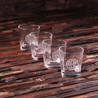 Personalised Set of 4 Whiskey Shot Glasses