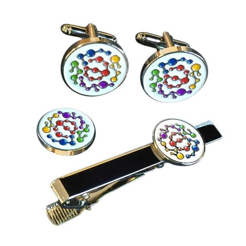 Custom Made Cufflinks, Tiebar, Lapel Pin Set