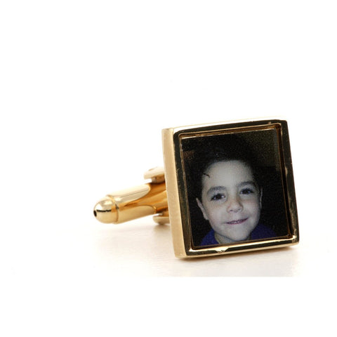 Square Gold Photograph Cufflinks