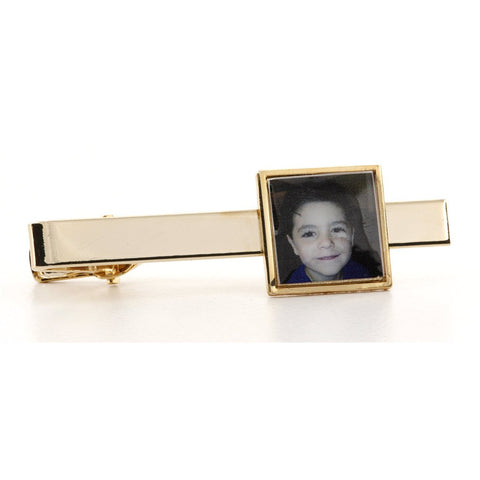 Personalised Logo Photo Tie Bar Gold