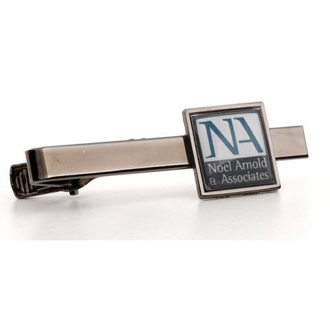 Personalised Logo Photo Tie Bar Gun Metal