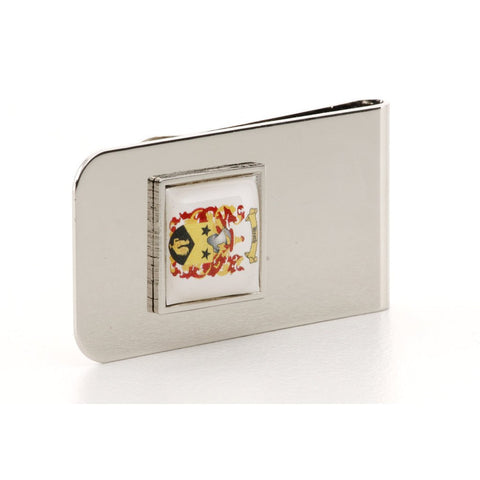 Personalised Logo Photo Money Clip Silver