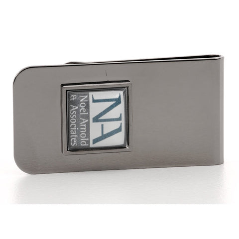 Personalised Logo Money Clip Gunmetal
