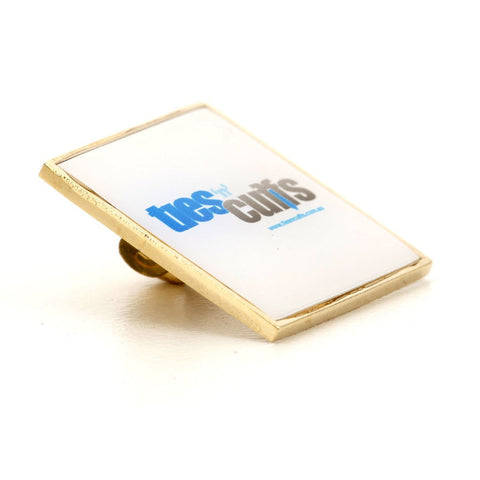 Personalised Logo Square Gold lapel Pins