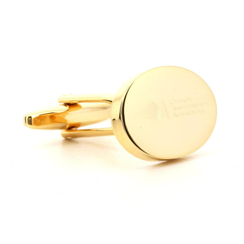 Corporate Oval Logo Gold Cufflinks