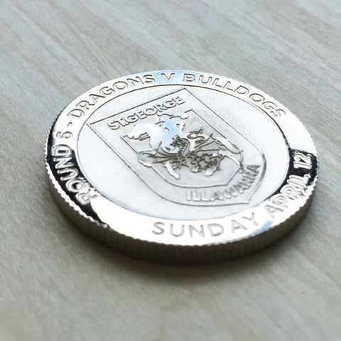Deep Etched Engraved Coin