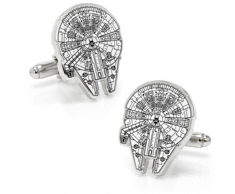 Star Wars Millenium Falcon Blue Print Cufflinks