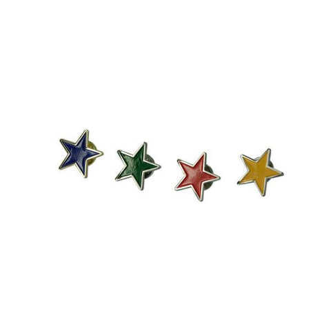 Multi Colour Star Lapel Pin Set