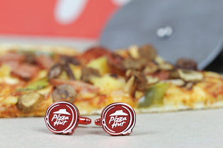 Pizza Hut Red Cufflinks