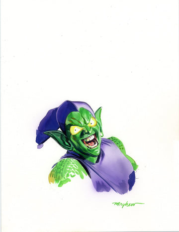Mike Mayhew Original AMAZING SPIDER-MAN #850 GREEN GOBLIN Corner Box Art
