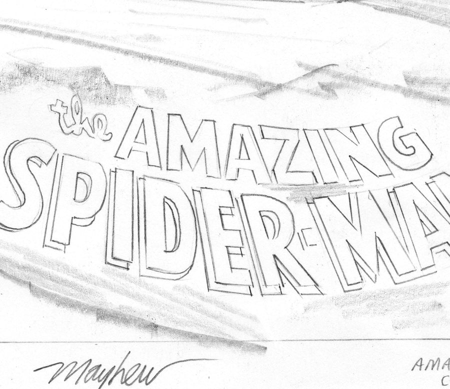 Mike Mayhew Original AMAZING SPIDER-MAN #18 Variant Cover Sketch A