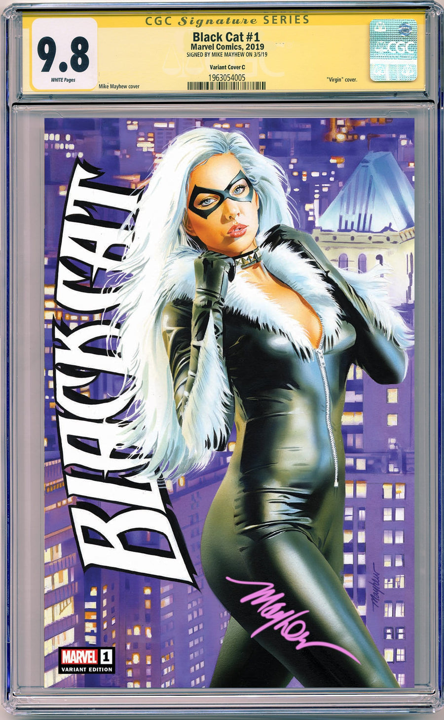 BLACK CAT #1 MIKE MAYHEW STUDIO EXCLUSIVE VARIANTS CGC SIG SERIES 9.8 OPTIONS