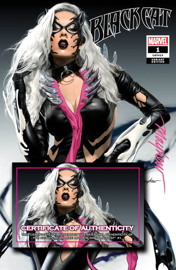 BLACK CAT #1 KIB Mike Mayhew Studio Variant Cover Trade Dress Signed with COA